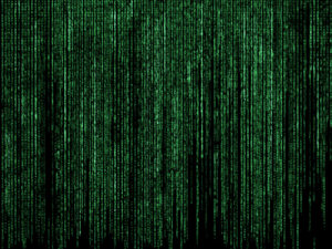 Futuristic code background with green letters - Designed by Kjpargeter / Freepik